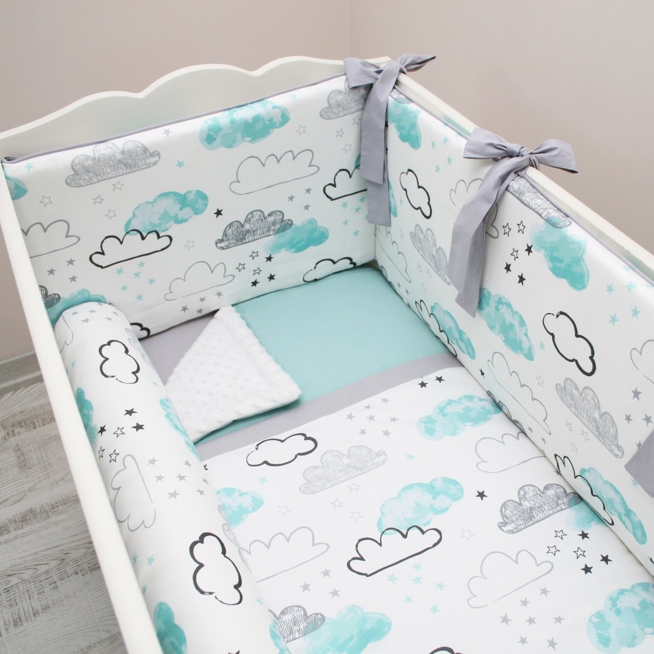 Mint Cloud Bebek Uyku Seti