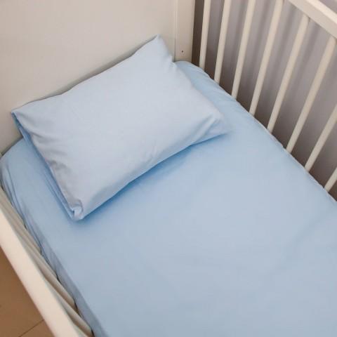 Mavi Çarşaf Yastık Seti
