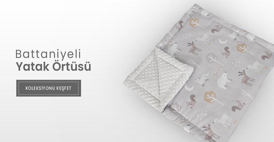 battaniyeli bebek yatak örtüsü