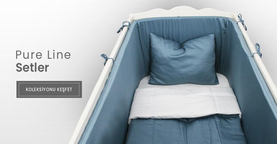 pure line bebek yatak örtüsü